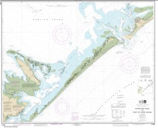 Buy map Ocracoke lnlet and Part of Core Sound Nautical Chart (11550) by NOAA from North Carolina Maps Store