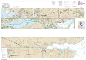Buy map Intracoastal Waterway Norfolk to Albemarle Sound via North Landing River or Great Dismal Swamp Canal Nautical Chart (12206) by NOAA from North Carolina Maps Store