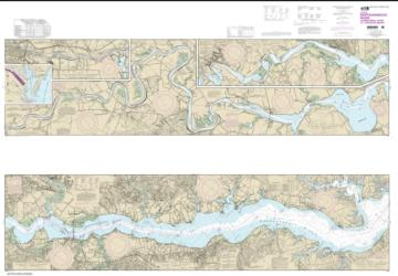Buy map Rappahannock River Corrotoman River to Fredericksburg Nautical Chart (12237) by NOAA from Virginia Maps Store