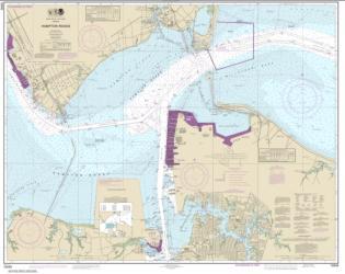 Buy map Hampton Roads Nautical Chart (12245) by NOAA from Virginia Maps Store