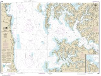 Buy map Chesapeake Bay Choptank River and Herring Bay; Cambridge Nautical Chart (12266) by NOAA from Maryland Maps Store