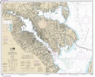 Buy map Chesapeake Bay Severn and Magothy Rivers Nautical Chart (12282) by NOAA from Maryland Maps Store