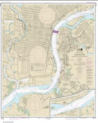 Buy map Philadelphia and Camden Waterfronts Nautical Chart (12313) by NOAA from New Jersey Maps Store