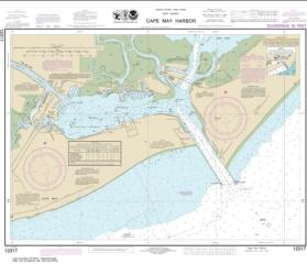 Buy map Cape May Harbor Nautical Chart (12317) by NOAA from New Jersey Maps Store