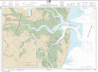 Buy map St. Andrew Sound and Satilla River Nautical Chart (11504) by NOAA from Georgia Maps Store
