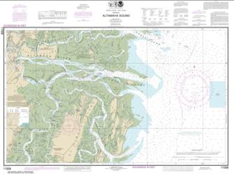 Buy map Altamaha Sound Nautical Chart (11508) by NOAA from Georgia Maps Store