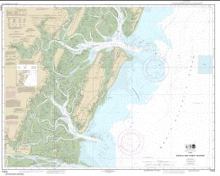 Buy map Sapelo and Doboy Sounds Nautical Chart (11510) by NOAA from Georgia Maps Store