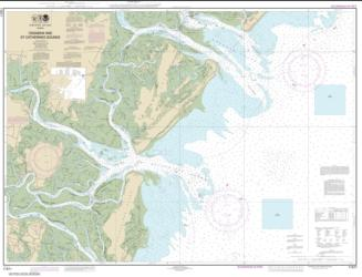 Buy map Ossabaw and St. Catherines Sounds Nautical Chart (11511) by NOAA from Georgia Maps Store