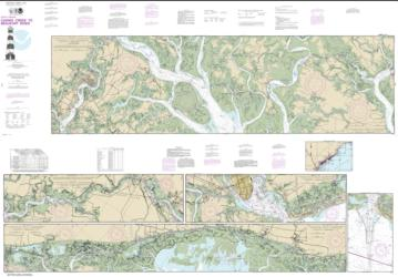 Buy map Intracoastal Waterway Casino Creek to Beaufort River Nautical Chart (11518) by NOAA from South Carolina Maps Store
