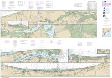 Buy map Intracoastal Waterway Myrtle Grove Sound and Cape Fear River to Casino Creek Nautical Chart (11534) by NOAA from North Carolina Maps Store