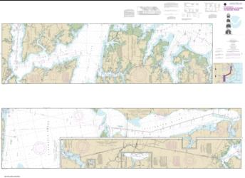 Buy map Intracoastal Waterway Albermarle Sound to Neuse River; Alligator River;Second Creek Nautical Chart (11553) by NOAA from North Carolina Maps Store