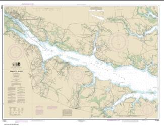 Buy map Pamlico River Nautical Chart (11554) by NOAA from North Carolina Maps Store