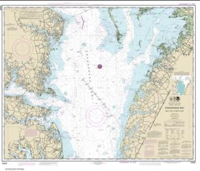 Buy map Chesapeake Bay Wolf Trap to Smith Point Nautical Chart (12225) by NOAA from Virginia Maps Store