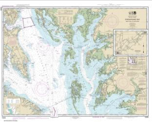 Buy map Chesapeake Bay Smith Point to Cove Point Nautical Chart (12230) by NOAA from Virginia Maps Store