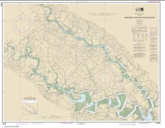 Buy map Pamunkey And Mattaponi Rivers Nautical Chart (12244) by NOAA from Virginia Maps Store