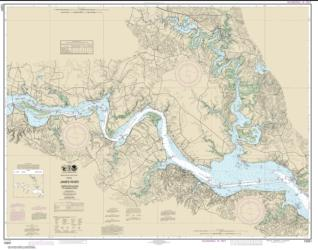 Buy map James River  Jamestown Island to Jordan Point Nautical Chart (12251) by NOAA from Virginia Maps Store