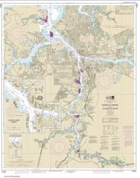 Buy map Norfolk Harbor and Elizabeth River Nautical Chart (12253) by NOAA from Virginia Maps Store
