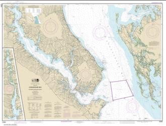 Buy map Chesapeake Bay Patuxent River and Vicinity Nautical Chart (12264) by NOAA from Virginia Maps Store