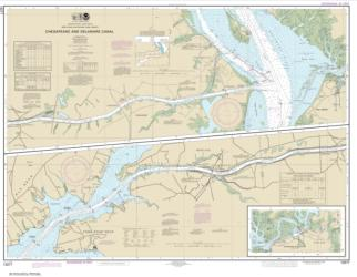 Buy map Chesapeake and Delaware Canal Nautical Chart (12277) by NOAA from Virginia Maps Store