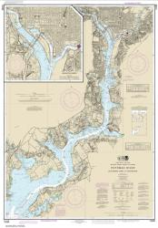 Buy map Potomac River Mattawoman Creek to Georgetown; Washington Harbor Nautical Chart (12289) by NOAA from Maryland Maps Store