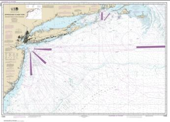 Buy map Approaches to New York, Nantucket Shoals to Five Fathom Bank Nautical Chart (12300) by NOAA from New Jersey Maps Store