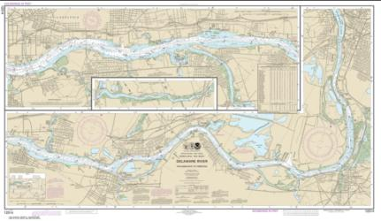 Buy map Delaware River Philadelphia to Trenton Nautical Chart (12314) by NOAA from New Jersey Maps Store