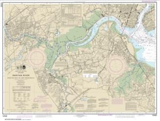 Buy map Raritan River Raritan Bay to New Brunswick Nautical Chart (12332) by NOAA from New Jersey Maps Store