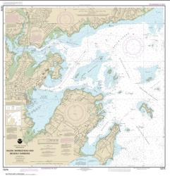 Buy map Salem, Marblehead and Beverly Harbors Nautical Chart (13276) by NOAA from United States Maps Store
