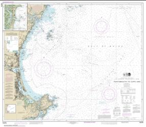 Buy map Portsmouth to Cape Ann; Hampton Harbor Nautical Chart (13278) by NOAA from United States Maps Store