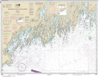 Buy map Monhegan Island to Cape Elizabeth Nautical Chart (13288) by NOAA from Maine Maps Store
