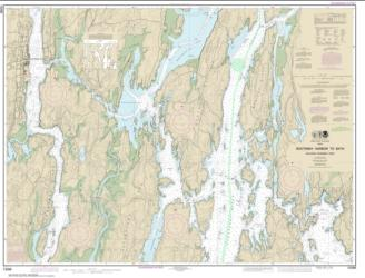 Buy map Boothbay Harbor to Bath, Including Kennebec River Nautical Chart (13296) by NOAA from Maine Maps Store