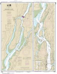Buy map Kennebec River Bath to Courthouse Point Nautical Chart (13298) by NOAA from Maine Maps Store