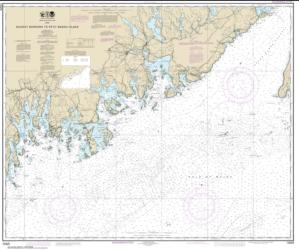 Buy map Quoddy Narrows to Petit Manan lsland Nautical Chart (13325) by NOAA from Maine Maps Store