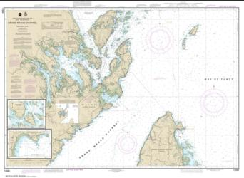 Buy map Grand Manan Channel Northern Part; North Head and Flagg Cove Nautical Chart (13394) by NOAA from Maine Maps Store