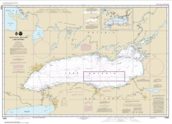 Buy map Lake Ontario Nautical Chart (14800) by NOAA from Ontario Maps Store