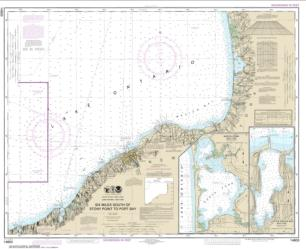 Buy map Six Miles south of Stony Point to Port Bay; North Pond; Little Sodus Bay Nautical Chart (14803) by NOAA from New York Maps Store
