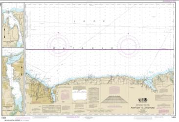 Buy map Port Bay to Long Pond; Port Bay Harbor; Irondequoit Bay Nautical Chart (14804) by NOAA from New York Maps Store