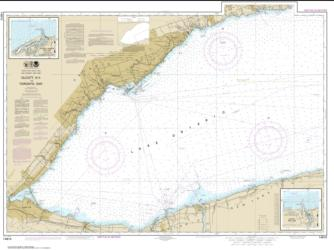 Buy map Olcott Harbor to Toronto; Olcott and Wilson Harbors Nautical Chart (14810) by NOAA from Ontario Maps Store