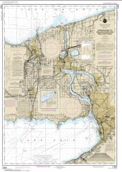 Buy map Approaches to Niagara River and Welland Canal Nautical Chart (14822) by NOAA from Ontario Maps Store