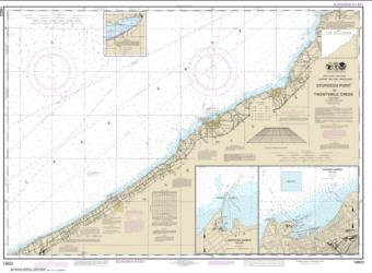 Buy map Sturgeon Point to Twentymile Creek; Dunkirk Harbor; Barcelona Harbor Nautical Chart (14823) by NOAA from New York Maps Store