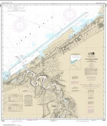 Buy map Cleveland Harbor, including lower Cuyahoga River Nautical Chart (14839) by NOAA from Ohio Maps Store