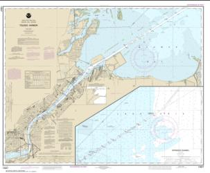 Buy map Toledo Harbor; Entrance Channel to Harbor Nautical Chart (14847) by NOAA from Ohio Maps Store