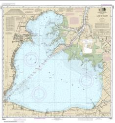 Buy map Lake St. Clair Nautical Chart (14850) by NOAA from United States Maps Store