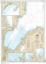 Buy map Saginaw Bay; Port Austin Harbor; Caseville Harbor; Entrance to Au Sable River; Sebewaing Harbor; Tawas Harbor Nautical Chart (14863) by NOAA from Michigan Maps Store