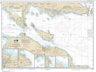 Buy map Detour Passage to Waugoshance Pt.; Hammond Bay Harbor; Mackinac Island; Cheboygan; Mackinaw City; St. lgnace Nautical Chart (14881) by NOAA from United States Maps Store