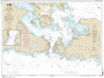 Buy map St. Mars River - Detour Passage to Munuscong Lake; Detour Passage Nautical Chart (14882) by NOAA from United States Maps Store