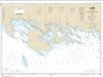 Buy map Les Cheneaux Islands Nautical Chart (14885) by NOAA from United States Maps Store