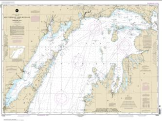 Buy map North end of Lake Michigan, including Green Bay Nautical Chart (14902) by NOAA from United States Maps Store