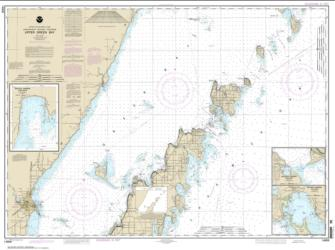 Buy map Upper Green Bay - Jackson Harbor and Detroit Harbor; Detroit Harbor; Jackson Harbor; Baileys Harbor Nautical Chart (14909) by NOAA from Wisconsin Maps Store