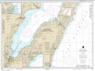Buy map Lower Green Bay; Oconto Harbor; Algoma Nautical Chart (14910) by NOAA from Wisconsin Maps Store
